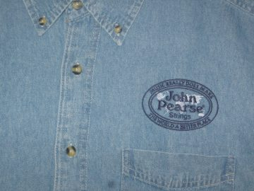 """Music Really Does Make the World a Better Place™"" Emb Denim Shirt"