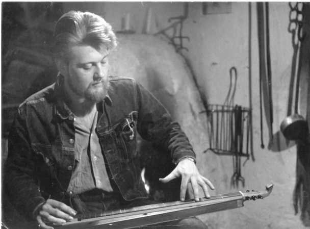 John Pearse with one of his Dulcimers, TV Shot