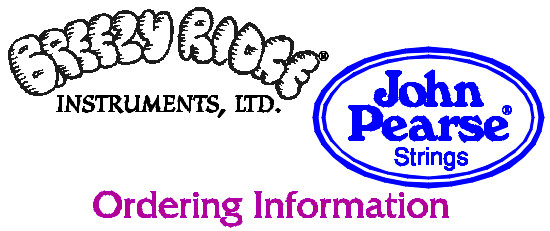John Pearse® Strings Ordering Information